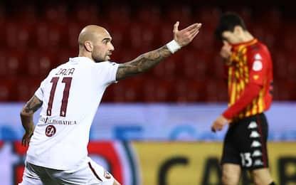 Zaza salva la prima di Nicola: Benevento-Toro 2-2