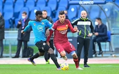 Roma-Spezia 1-1 LIVE: palla gol Pellegrini