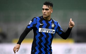 MILAN, ITALY - December 20, 2020: Lautaro Martinez of FC Internazionale gestures during the Serie A football match between FC Internazionale and Spezia Calcio. FC Internazionale won 2-1 over Spezia Calcio. (Photo by Nicolò Campo/Sipa USA)