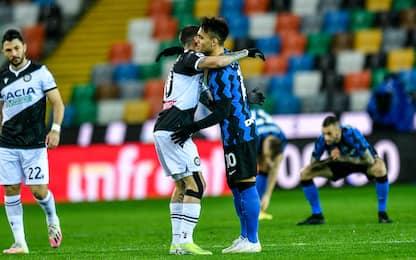 L'Inter non sfonda, 0-0 a Udine. Conte a -2