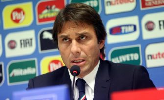 Italy's head coach Antonio Conte during a press conference at Giuseppe Meazza stadium  in Milan, Italy, 15 November 2014. Italy will face Croatia in the UEFA EURO 2016 qualifying soccer match on 16 November 2014.  ANSA / MATTEO BAZZI