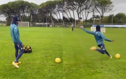 Osimhen recupera bene, gran gol in allenamento