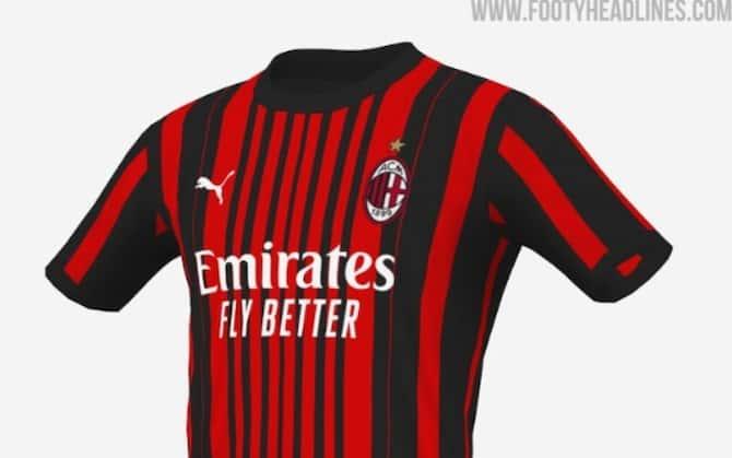 Milan, nuova maglia per il 2021-2022: le anticipazioni di Footy ...