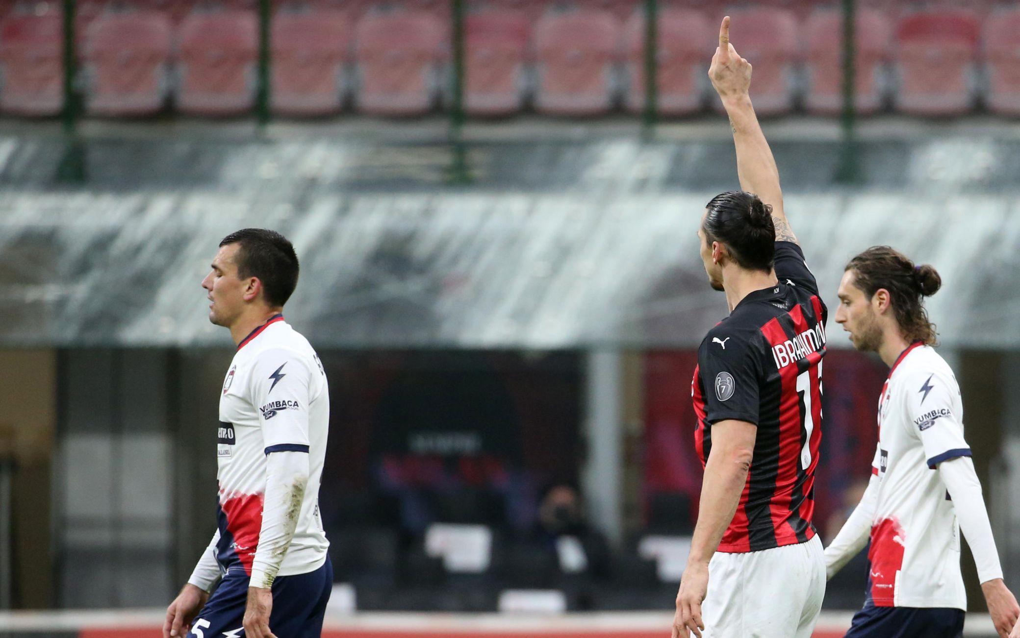 Ibrahimovic in Milan-Crotone