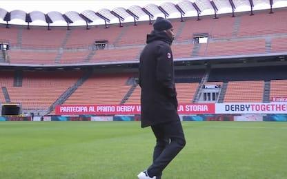 Rafa Leao balla prima di Milan-Crotone. VIDEO
