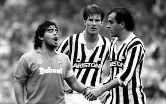 Diego Armando Maradona e Michel Platini