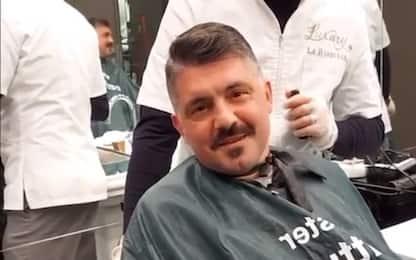 Gattuso, show anche dal barbiere. VIDEO