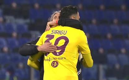 Gioia Toro, l'abbraccio tra Nicola e Sirigu. VIDEO