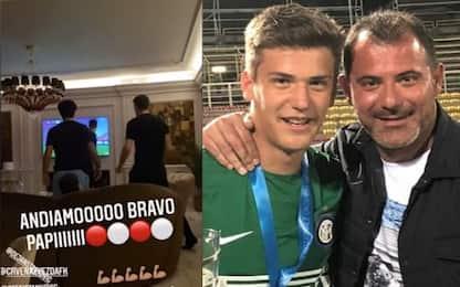 Casa Stankovic, è già derby: Filip esulta per papà