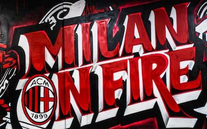 """""""Milan on fire"""", nuovo murale rossonero a San Siro"""