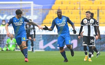 L'Udinese rimonta il Parma: al Tardini finisce 2-2