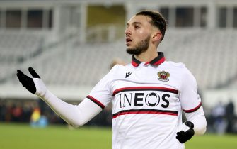 Amine Gouiri of Nice during the French championship Ligue 1 football match between RC Lens and OGC Nice on January 23, 2021 at stade Bollaert-Delelis in Lens, France - Photo Jean Catuffe / DPPI / LiveMedia