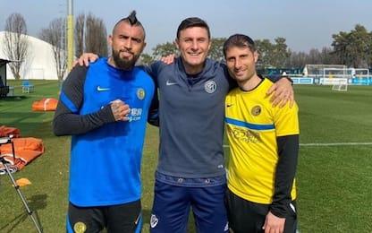 """Vidal e Zanetti: allenamento da """"guerrieri"""". VIDEO"""