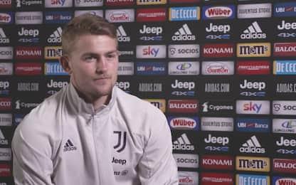 """De Ligt: """"Ero centrocampista. Pirlo un modello"""""""