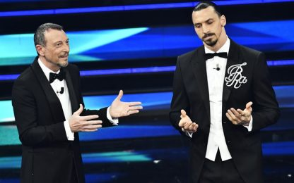 "Ibrahimovic show a Sanremo: ""Qui comando io"". FOTO"