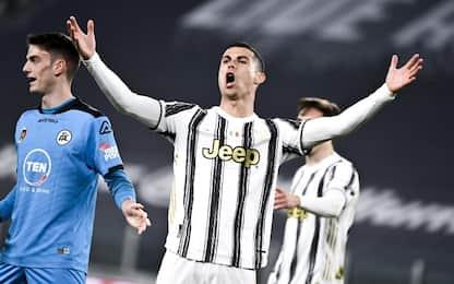 Juve-Spezia 0-0 LIVE: palo di Ronaldo