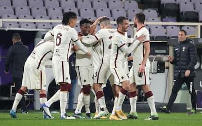 La Roma riparte, colpo a Firenze: 2-1 ai Viola