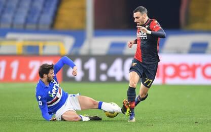 Zappacosta-Tonelli, derby pari: Genoa-Samp 1-1