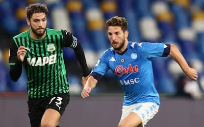 Sassuolo-Napoli, dove vedere la partita in tv