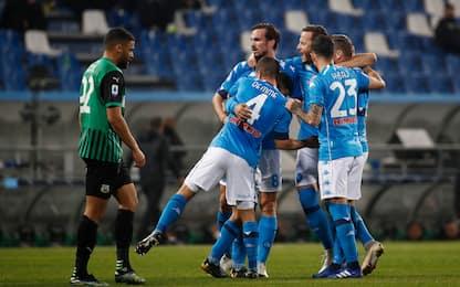 Sassuolo-Napoli 2-3 LIVE: gol di Insigne su rigore