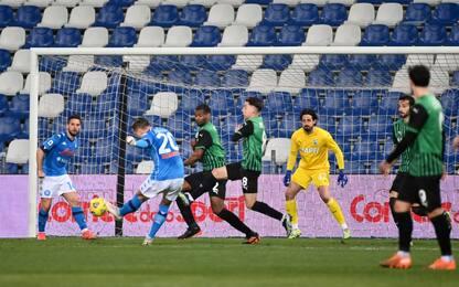 Gol ed emozioni al Mapei, Sassuolo-Napoli è 3-3