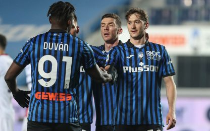 Jolly dalla panchina, Atalanta in gol come la Juve
