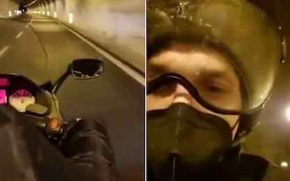 """Il motociclista: """"Così ho portato Ibra a Sanremo"""""""