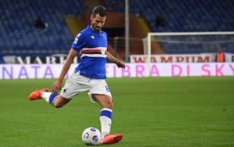 ANTONIO CANDREVA (Sampdoria) durante Sampdoria vs Lazio, Campionato di Calcio Serie A in Genova, Italia, 17 ottobre 2020
