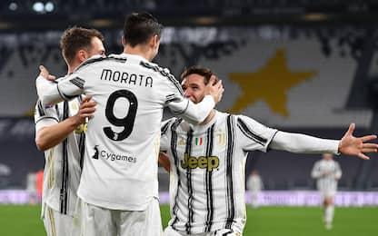 Morata ribalta la Lazio, vince la Juve 3-1