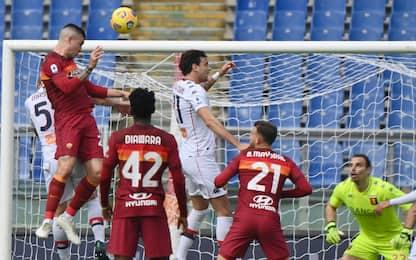 Roma-Genoa 1-0 LIVE: ancora Mancini pericoloso