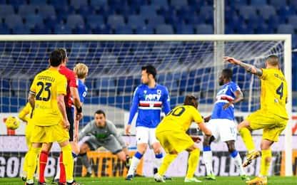 Nainggolan al 96', Sampdoria-Cagliari 2-2