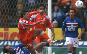 © a&g / LaPresse05-02-2006 GenovaSport CalcioSampdoria Treviso campionato di calcio serie A 2005 2006Nella foto  Baseggio in azionefoto a&g