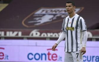 Torino. Partita di Lega serie A Tim 2020/2021. Torino vs Juventus. Stadio Olimpico Grande TorinoNella Foto:  Cristiano Ronaldo