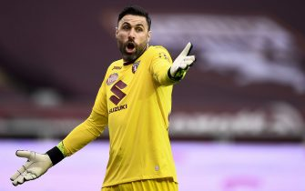 TURIN, ITALY - April 03, 2021: Salvatore Sirigu of Torino FC reacts during the Serie A football match between Torino FC and Juventus FC. (Photo by Nicolò Campo/Sipa USA)