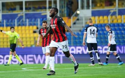 Il Milan passa 3-1 a Parma, rosso a Ibra