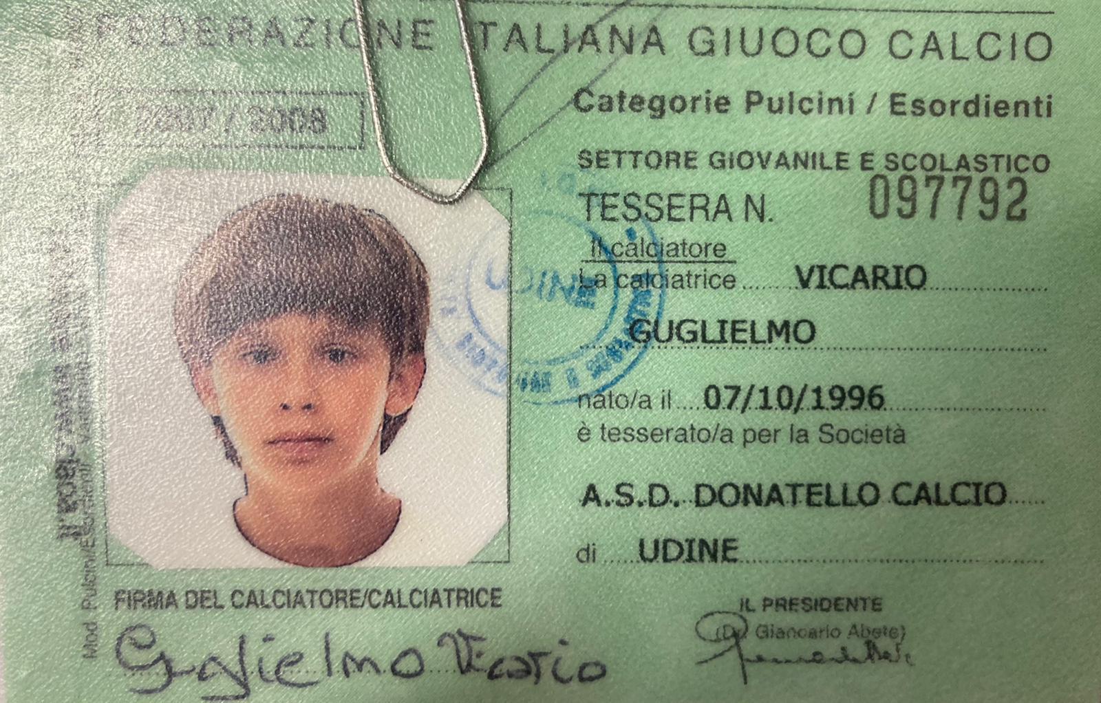 Guglielmo Vicario è nato il 7 ottobre 1996 (età 24 anni)