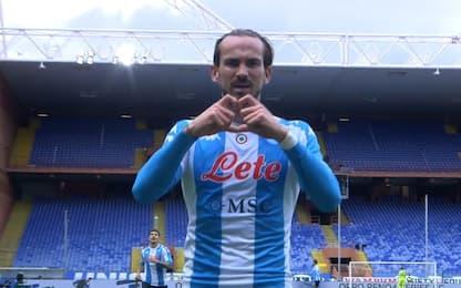 Samp-Napoli 0-1 LIVE, gol di Fabian Ruiz