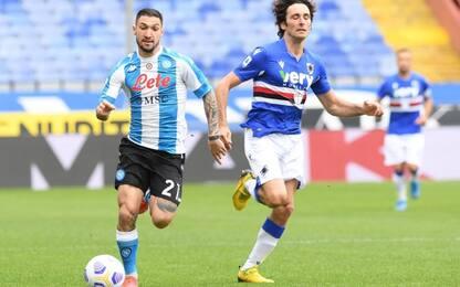Samp-Napoli 0-0 LIVE, Audero salva su Insigne