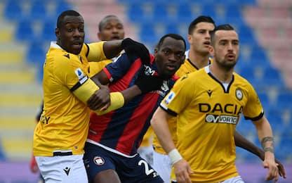 Crotone-Udinese 1-2 LIVE: doppietta di De Paul