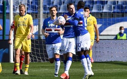 La Samp vince in rimonta, 3-1 al Verona