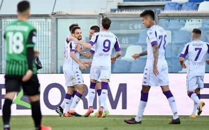 Sassuolo-Fiorentina 0-1 LIVE: palo di Castrovilli