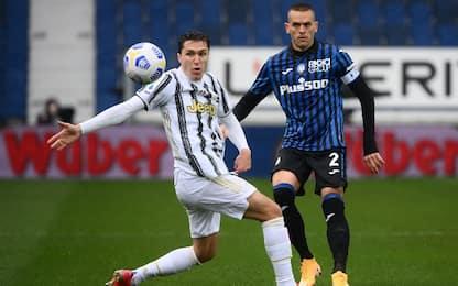 Atalanta-Juve 0-0 LIVE, Chiesa costretto al cambio