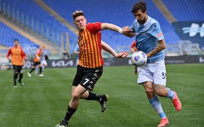 Lazio-Benevento 4-3 LIVE: Glik-gol di testa