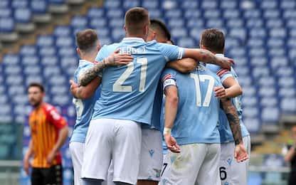 Lazio-Benevento 4-1 LIVE: autorete di Montipò