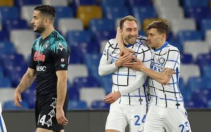 L'Inter si ferma dopo 11 vittorie: 1-1 a Napoli