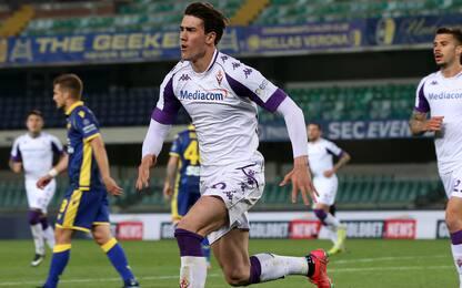 Verona-Fiorentina 0-2 LIVE: Caceres raddoppia