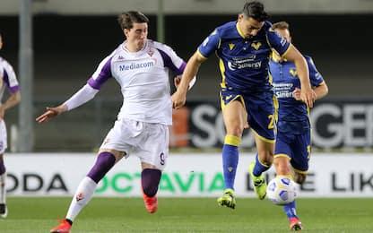 Verona-Fiorentina 0-1 LIVE: Vlahovic-gol su rigore