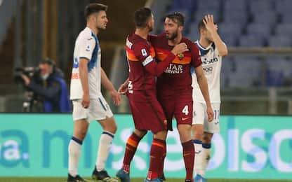La Dea frena ed è terza, con la Roma finisce 1-1