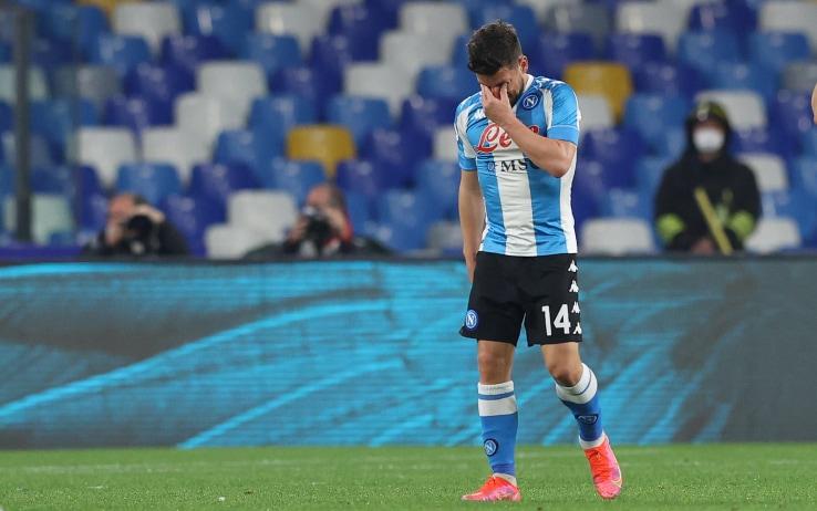 Mertens in lacrime dopo il gol
