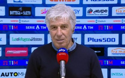 """Gasperini: """"Chiudere il discorso Champions"""""""